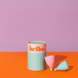 The Hello Cup Menstrual Cup Double Box - S/M + L