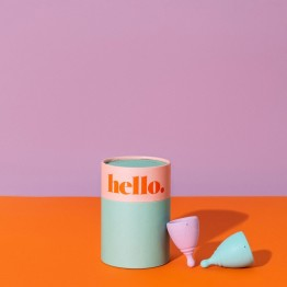 The Hello Cup Menstrual Cup Double Box - XS + S/M