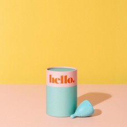 The Hello Cup Menstrual Cup - S/M Blue
