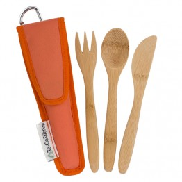 To-Go Ware Mini Reusable Bamboo Utensil Set - Orange
