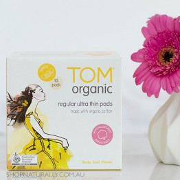 Tom Organic Ultra Thin Pads with Wings - 10 x Day