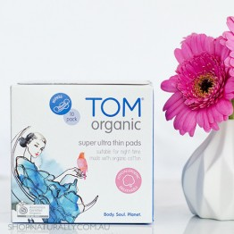 Tom Organic Ultra Thin Pads with Wings - 10x Night