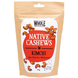 The Whole Foodies Native Cashews - Kimchi 70g
