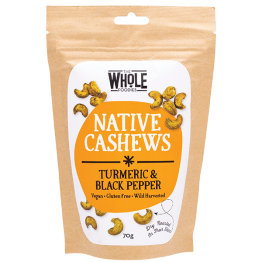 The Whole Foodies Native Cashews - Turmeric & Black Pepper 70g