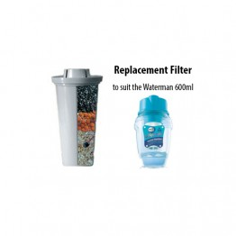 Waters Co Waterman 600ml Portable Fluoride Mineral Water Filter - single replacement cartridge