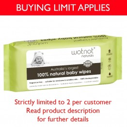 Wotnot Baby Wipes 100% Biodegradable and Alcohol Free - 70 wipes