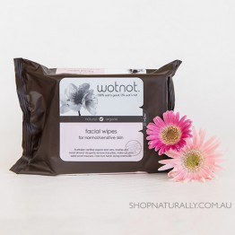 Wotnot Naturally Nurturing Facial Wipes 100% Biodegradable and Alcohol Free - normal to sensitive skin - 25pc