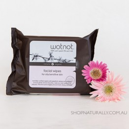 Wotnot Naturally Nurturing Facial Wipes 100% Biodegradable and Alcohol Free - oily teen breakout prone skin - 25pc