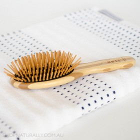 Bass Brushes Bamboo Wood Hair Brush - Small Oval