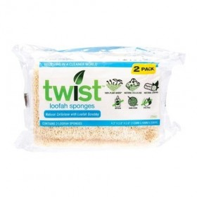Twist Loofah Sponges 2 Pack