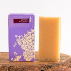 Beauty & The Bees Shampoo Bar 125g - Lemon & Chamomile (for blondes and grey hair)
