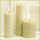 80c/hour burn time | hand rolled decorative candle - popular wedding candle