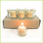 98c/hour burn time - 8 jam jar tealight candles for your next dinner party (refills available)
