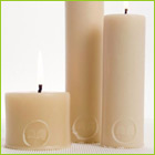 63c/hour burn time | solid 15cm pillar candle with 40 hours burn time