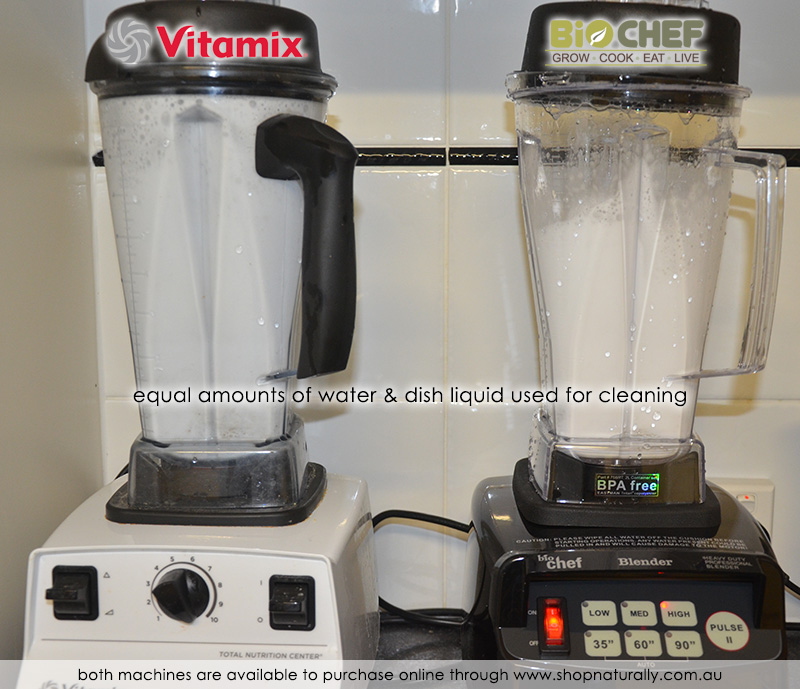 Self Cleaning put to the test - this is where you see the additional power of the Vitamix in a clear visual