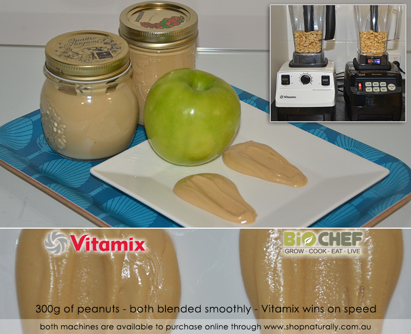 Both blenders make a really smooth peanut butter with ease, the Vitamix does it quicker