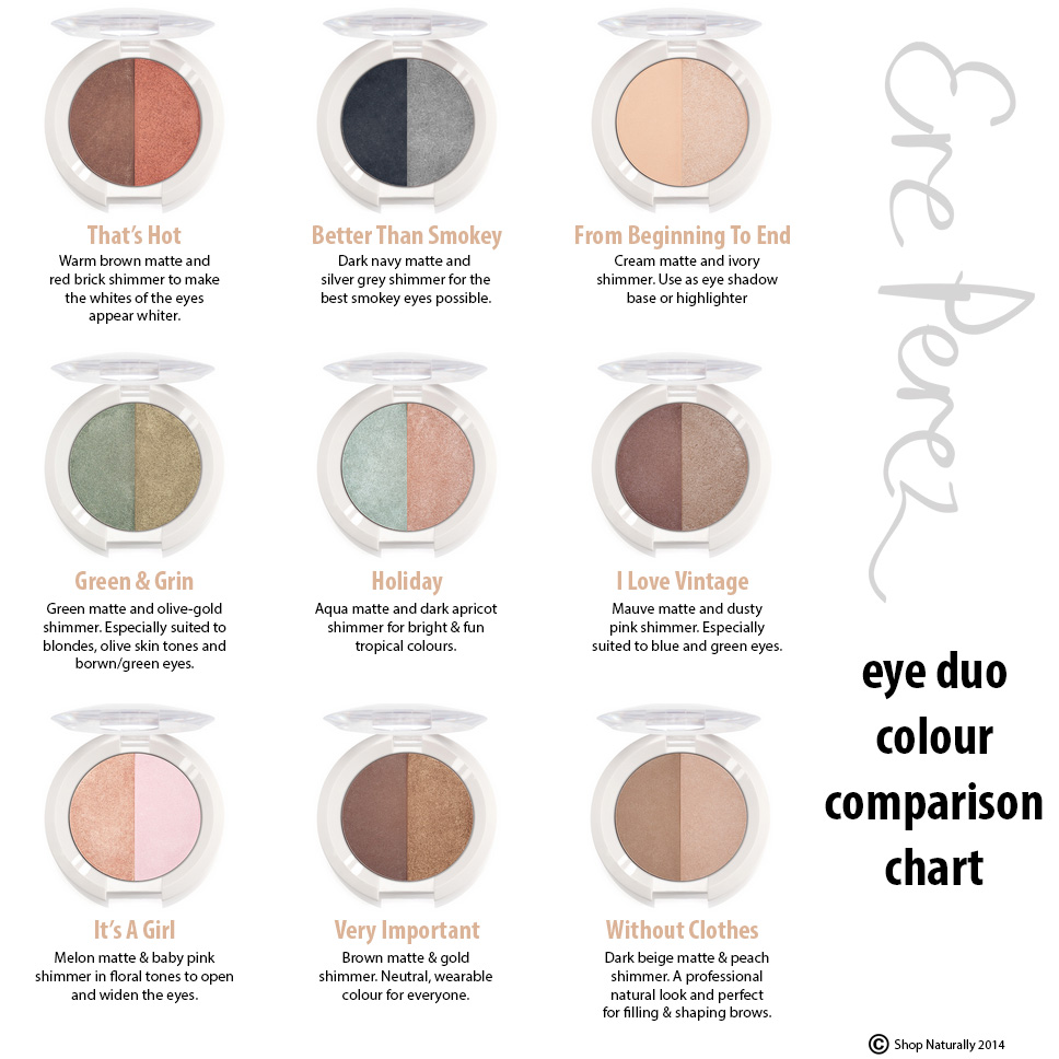 New the full range of ere perez eye shadow duos shop naturally ereperez eye shadow chart geenschuldenfo Gallery