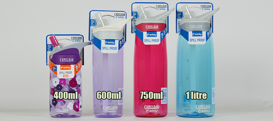 Camelbak Eddy water bottle size comparison
