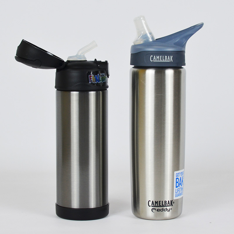 Thermos vs Camelbak stainless steel drinking straw bottles