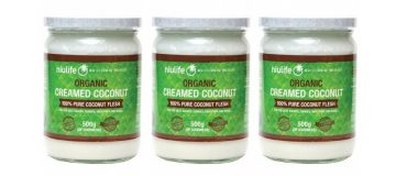 What is creamed coconut?