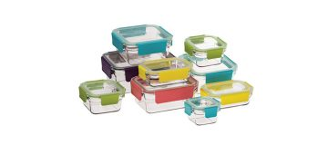 New premium food container set from Glasslock