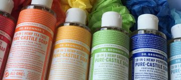 Dr Bronner Castile Soap now available in all scents