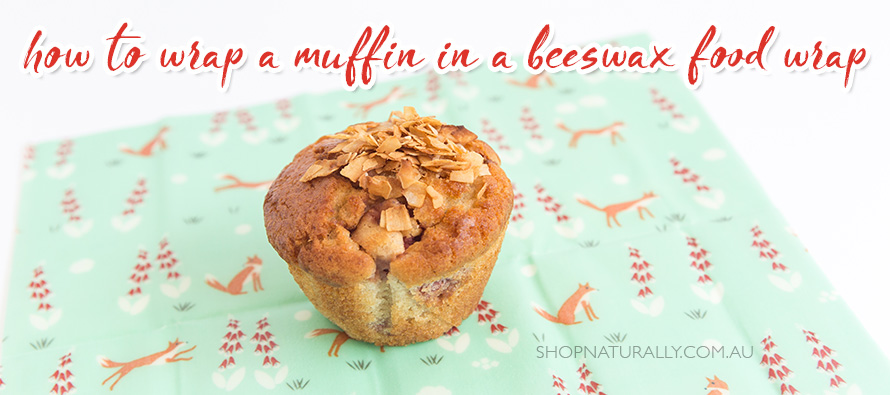 How to wrap a muffin in a beeswax food wrap