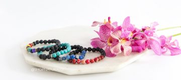 New lava stone bracelets from Aroma Jewels
