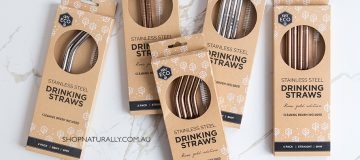 Ever Eco stainless steel straws - now completely plastic free packaging plus bulk packs available