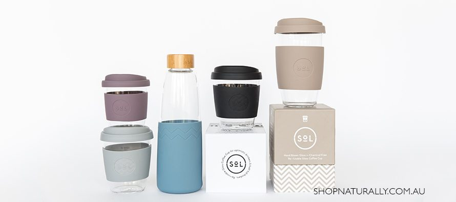 New glass water bottles by Sol
