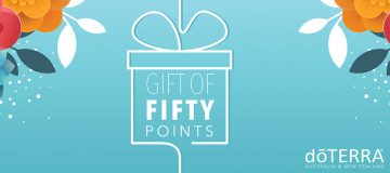 doTERRA's Gift Of Fifty Points promotion