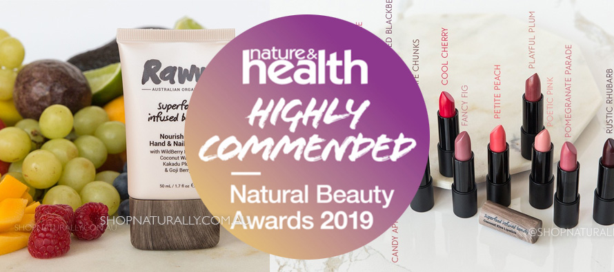 Raww Cosmetics wins 2 Highly Commended Awards