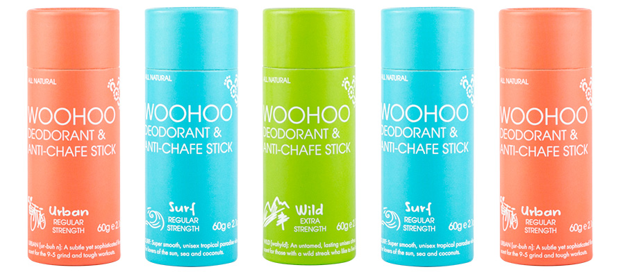 Introducing the new Woohoo Body Deodorant Sticks